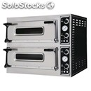 Electromechanical pizza oven - mod. trays 44 - twin deck oven - firebrick oven