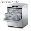 Electronic stainless steel glass washer - mod. pl28e - single phase supply -