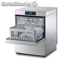 Electronic stainless steel glass washer - mod. sm28e - single phase supply -