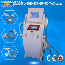 Elight, rf, nd yag Laser 3 in 1 fotodepilacion, tattoo removal machine
