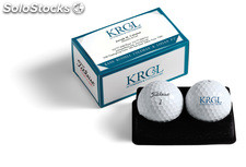 Embalaje Titleist 2 Ball Business Card