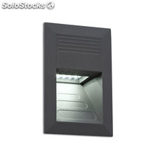 Empotrable de pared rectangular exterior gris oscuro Sula LED SMD 1W 4000K 30Lm