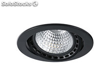 Empotrable mini Optic negro led pearl white 17 - 24w 3100k 56