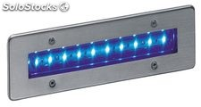 Empotrable pared piscinas acero inox Syna LED 1,3W Azul IP68