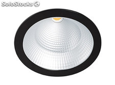 Empotrable Solid negro led pearl white 24-36-42w 3100k 30º