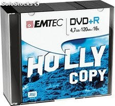 Emtec pack 10 DVD+r slim