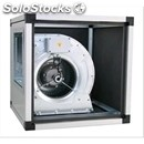Encased extractor fan - dual suction - directly coupled - 1 speed - single panel