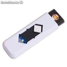 "Encendedor USB ""Fire up"" , blanco"