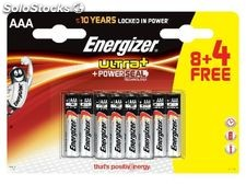 Energizer blister 8 +4 pilas ultra+ lr03 aaa 632872