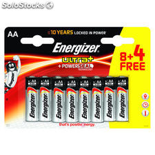 Energizer pilas alcalinas ultra+ aa 8 +4 ud aa lr6 blister 271942