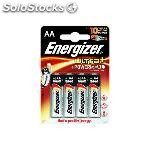 Energizer pilas alcalinas ultra + pack 4 ud AA LR6 636921