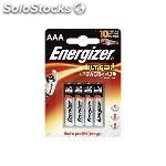 Energizer pilas alcalinas ultra + pack 4 ud AAA LR03 636024