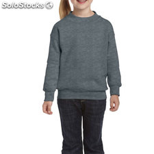 Enfants Sweat-shirt 255/270g GI180B-DH-S, Dark Heather