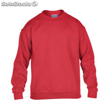 Enfants Sweat-shirt 255/270g GI180B-RD-M, rouge