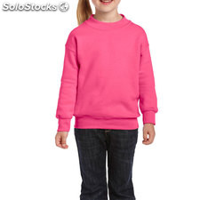 Enfants Sweat-shirt 255/270g GI180B-SP-S, Rose de sécurité