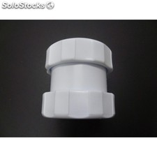 Enlace Tubo Liso Polipropileno Blanco 40Mm Saneaplast