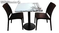 Ensemble de 2 chaises ou 4 chaises + table, conjunto 17 of17