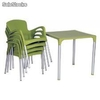 Ensemble de terrasse 4 chaises Eva avec table 70x70 Elite