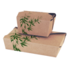 "Envase microondable rectangular ""feel green"" 19,7x14x6,4 cm natural carton"