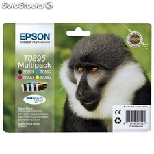 Epson cartucho negro´tricolor 16,3ML pack 4 stylus s´20´21 stylus