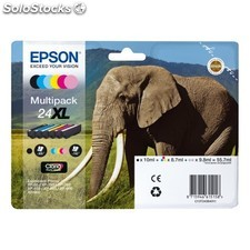 Epson - Multipack 6-colours 24XL Claria Photo HD Ink 9.8ml 10ml Negro, Cian,