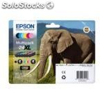 Epson multipack 6-colours 24XL claria photo hd ink, negro, cian, cian claro,