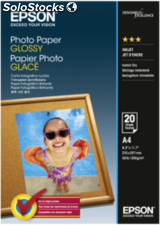 Epson Papel foto Glossy A 4 20 hojas 200g