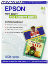 Epson Photo Quality Inkjet Paper A4,10 hojas,167g autoadhesivo