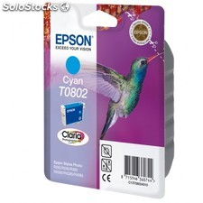 Epson - Singlepack Cyan T0802 Claria Photographic Ink