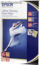 Epson Ultra Glossy Papel Foto 10x15cm, 20 hojas 300g S 041926