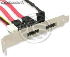 ESATAp Bracket eSATA + usb 5V and 12V 2-port (DM48)