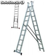 Escalera transformable doble 13 peldaños