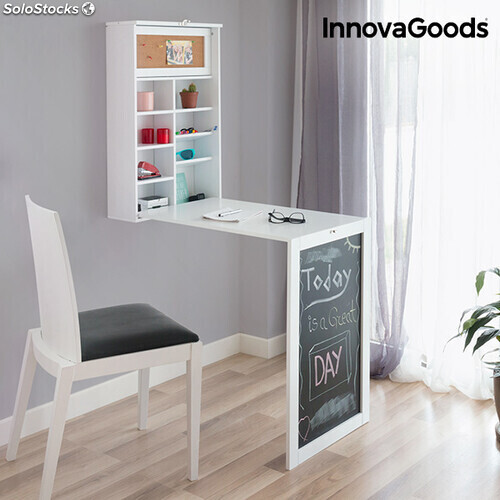 Escritorio plegable de pared innovagoods - Mesa de comedor plegable a la pared ...