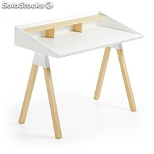 Escritorio Stick - Color - Blanco y madera
