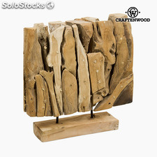 Escultura Madera (40 x 12 x 40 cm) by Craftenwood