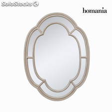 Espejo oval color beige by Homania
