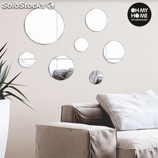 Espejos con Adhesivos Geometry Oh My Home (pack de 7)