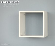 Estante pared individual blanco cubo Altea