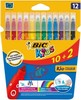 Estuche 12 rotulador Bic Kids super lavable
