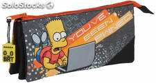 Estuche Bart Simpson Triple