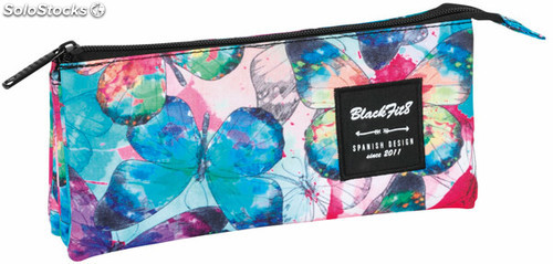 Estuche Blackfit8 Butterflies Triple