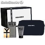 Estuche dsquared he wild edt 50 ml + regalo neceser + gel