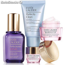 Estuche estee lauder resilence lift crema 15 ml + limpiador perfecly 30 ml +