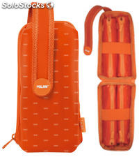 Estuche Milan Look II Orange Handly Multipencilcase 31 Piezas