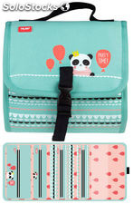 Estuche Milan Party Time Green Multipencilcase 38 Piezas