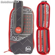 Estuche Milan Patch Grey Handly Multipencilcase 31 Piezas