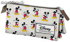Estuche Triple Mickey Mouse Original