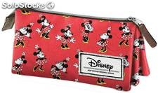 Estuche Triple Minnie Mouse Cheerful