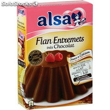 Etui 4 doses flan onctueux tres chocolat alsa