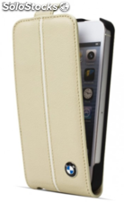 Etui flap cuir creme iPhone 5 de luxorcenter
